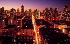 Vistas de noche del Upper East Side