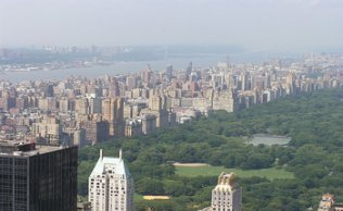 Vista desde el centro Rockefeller del Upper West Side